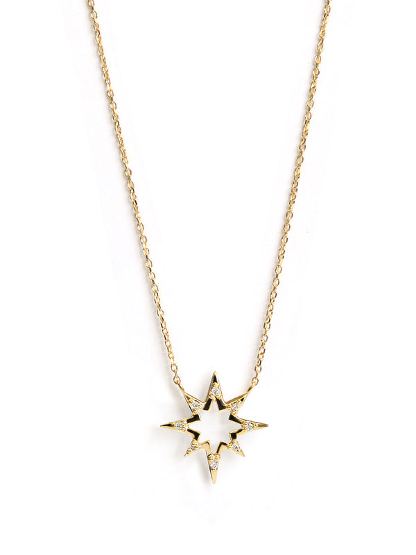 Aztec Hollow Starburst Necklace