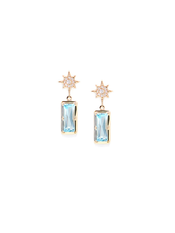 Aztec Starburst Baguette Earrings