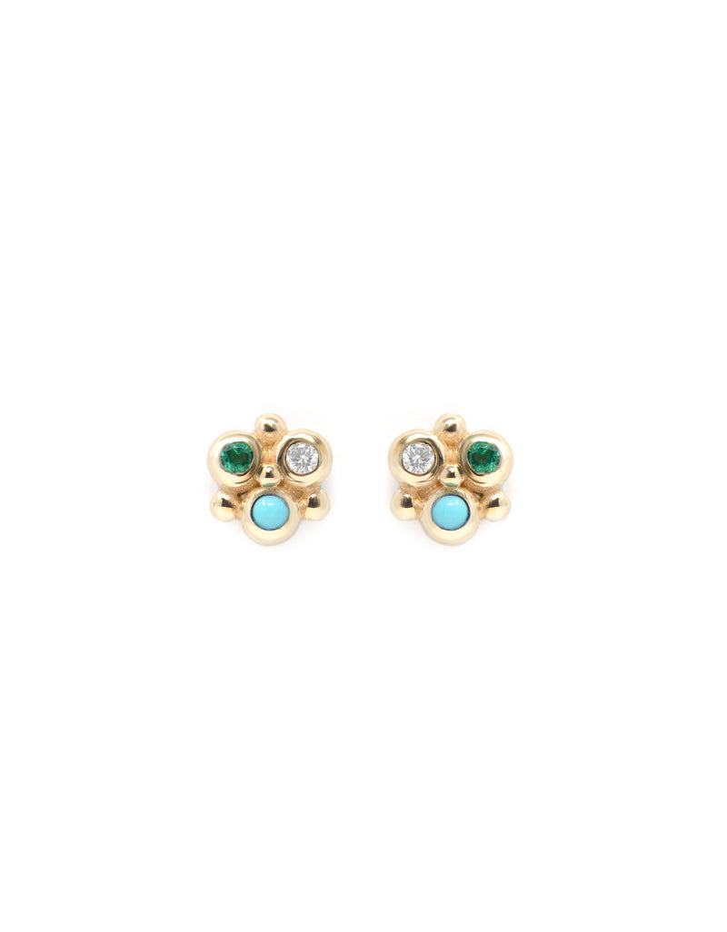 Dew Drop Mini Fleur Earrings