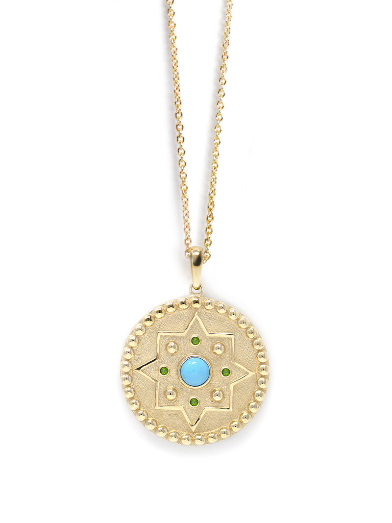 Aztec Dew Drop Mayan Medallion