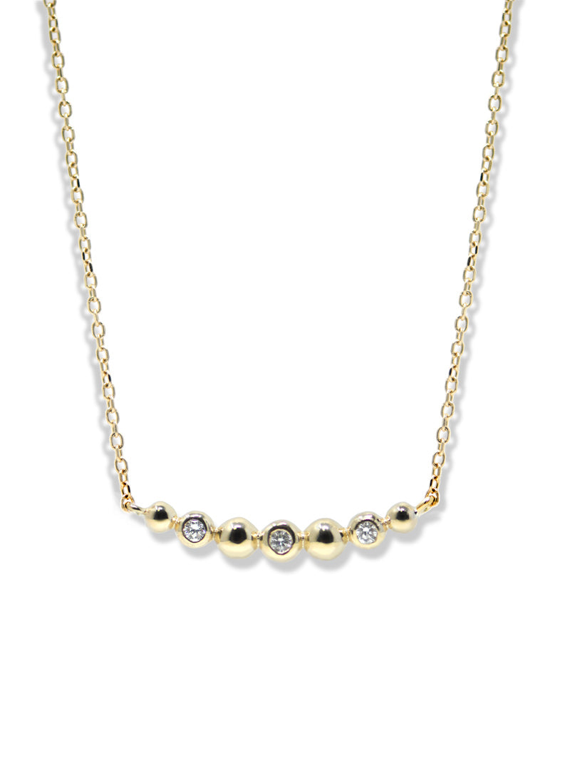 Dew Drop Bar Necklace