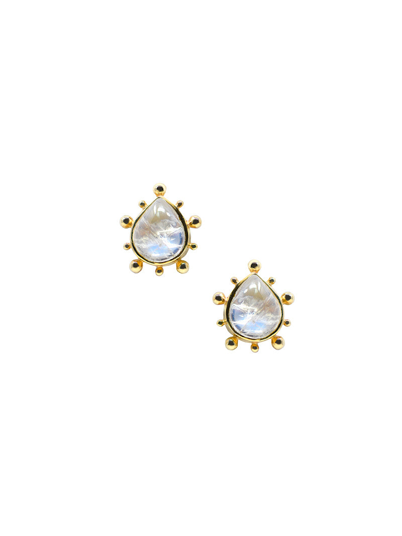 Dew Drop Marine Pear Earrings