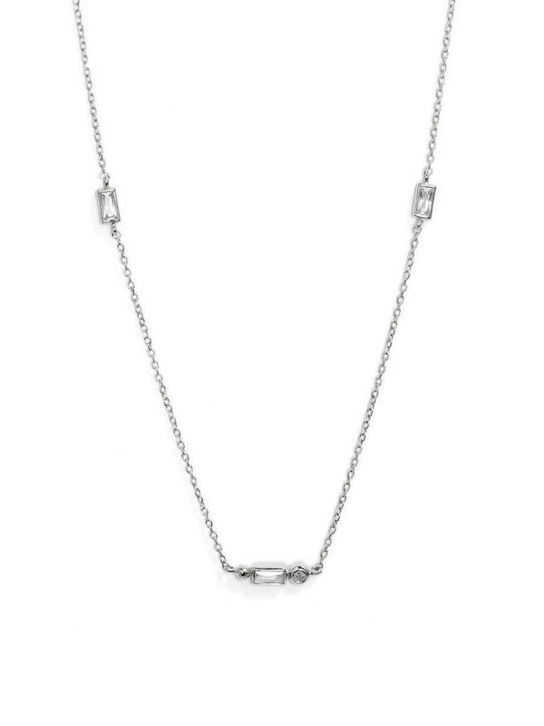 Cléo Baguette Crew Necklace