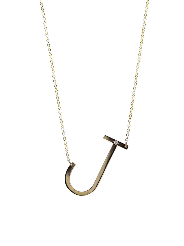 Love Letter Oversize Initial Necklace