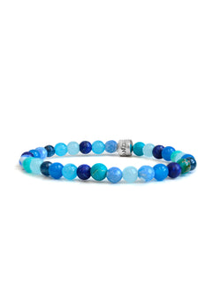 Shades of Blue Lifesaver Boheme Bracelet