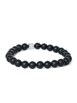 Men's Bohème Anzie Closure Frosted Black Onyx Bracelet