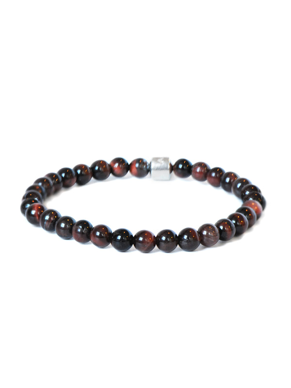 Men's Boheme Anzie Closure Red Tiger's Eye Bracelet