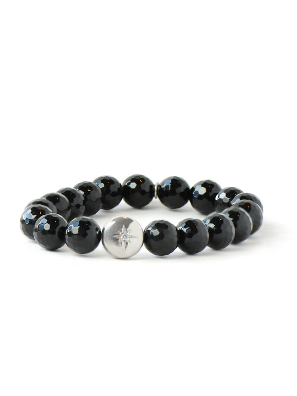 Bohème Faceted Black Onyx Bracelet