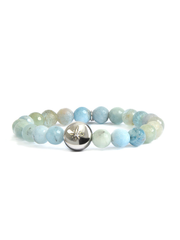 Bohème Faceted Aquamarine Bracelet