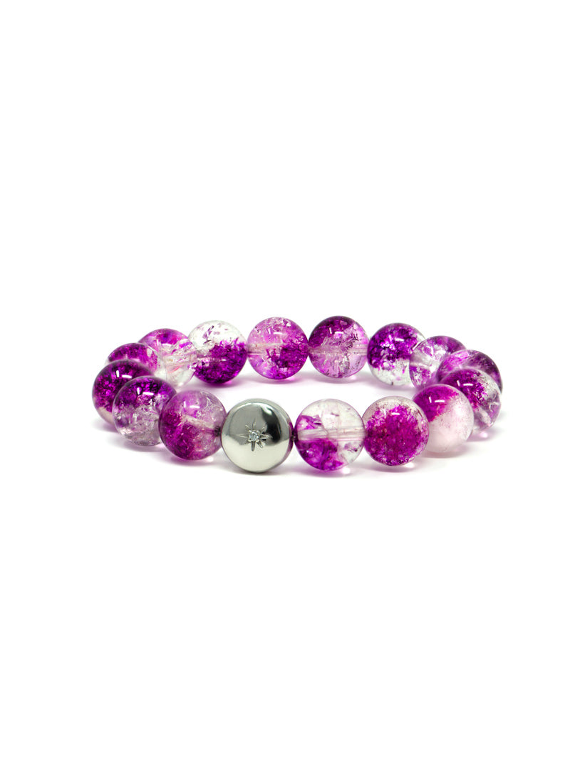 Bohème Purple Crystal Quartz Bracelet