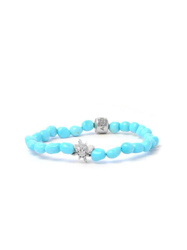 Bohème Starburst Sleeping Beauty Turquoise Nuggets Bracelet