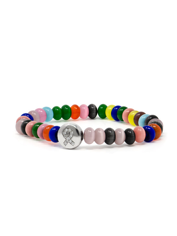 Bohème Multi Cat Eye Rondelle Lifesaver™ Bracelet