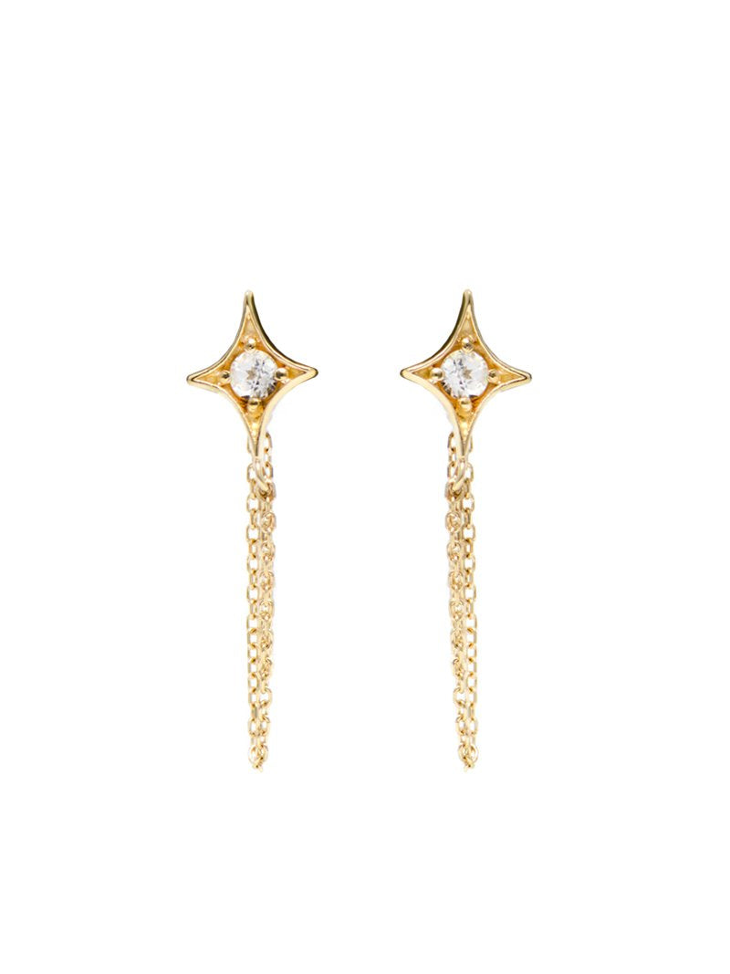 Jac+Jo Gothic Diamond Chain Earrings