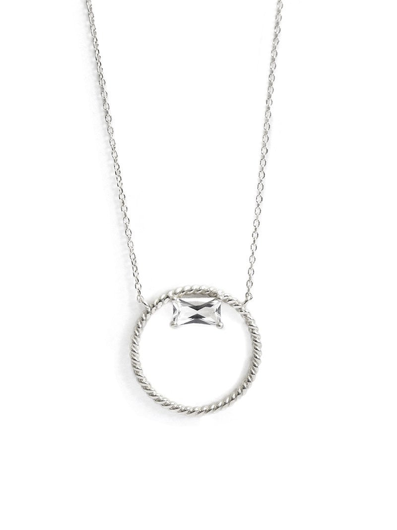 Jac+Jo Strata Baguette Rope Necklace
