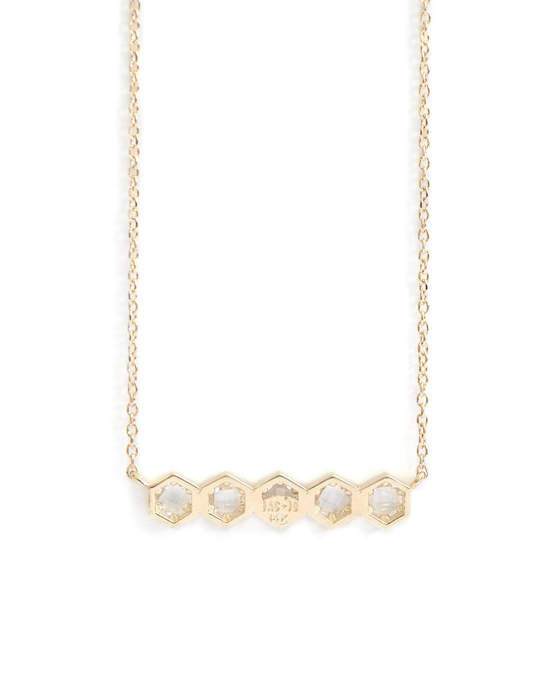 Jac+Jo Bolt Mini Bar Necklace