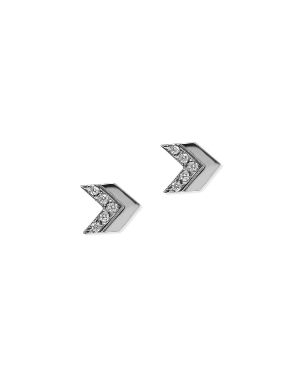 Jac+Jo Arrow Pavé Chevron Stud