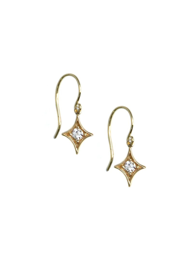 Jac+Jo Gothic Diamond Hanging Earrings