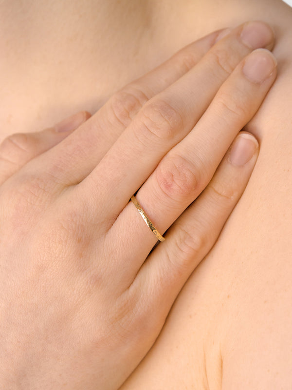 Jac+Jo Strata Hammered Band Ring