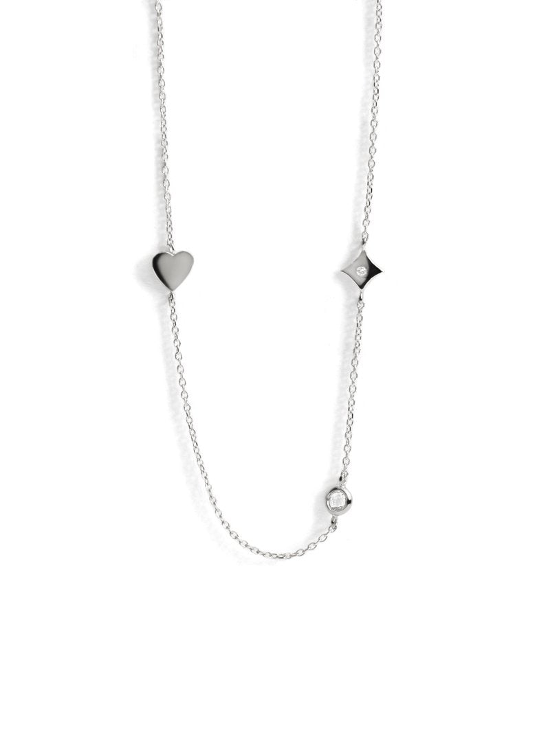 Jac+Jo Icon Heart Station Necklace