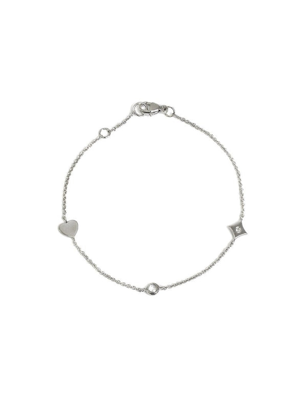 Jac+Jo Icon Heart Station Bracelet
