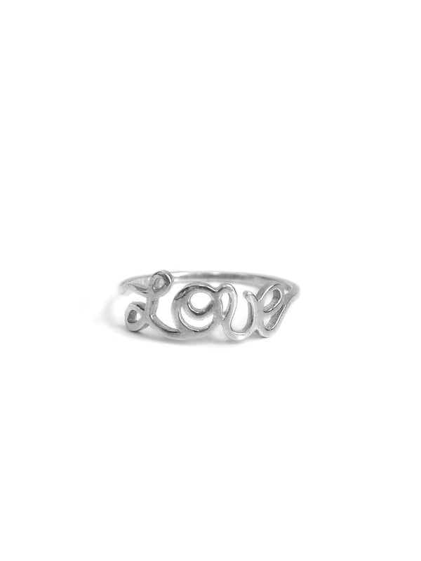 Jac+Jo Script Love Ring