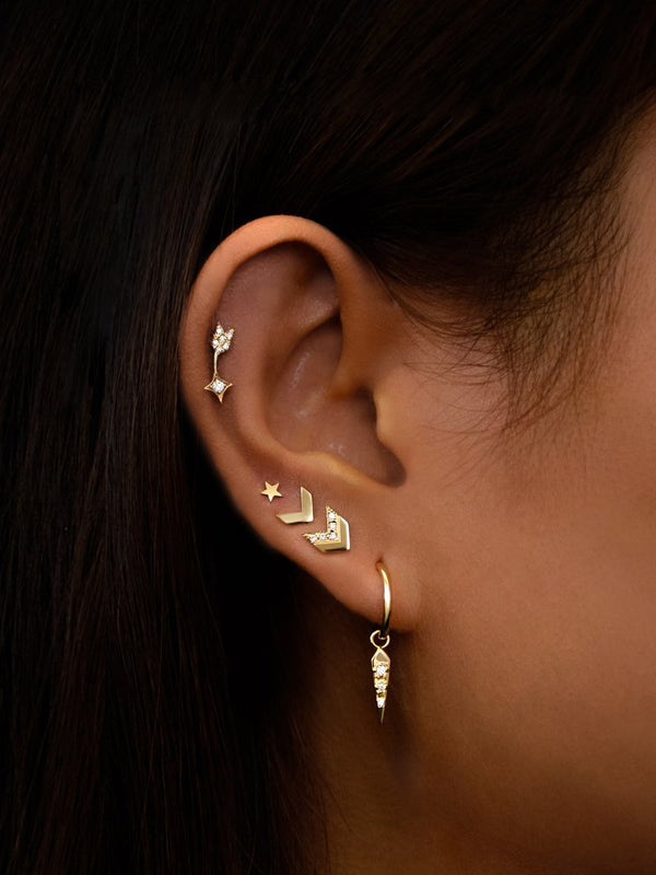 Jac+Jo Arrow Ear Crawler Studs