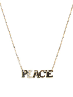 Customizable Love Letter PEACE Necklace