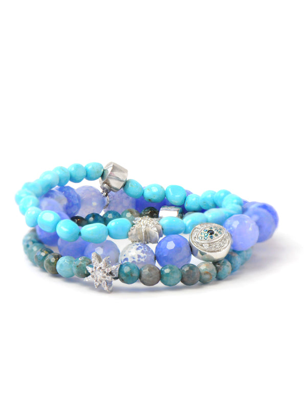 Boheme Bracelets - Melange of Bright Blues