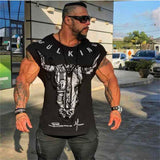 gym tight T-shirt muscle fitness brother