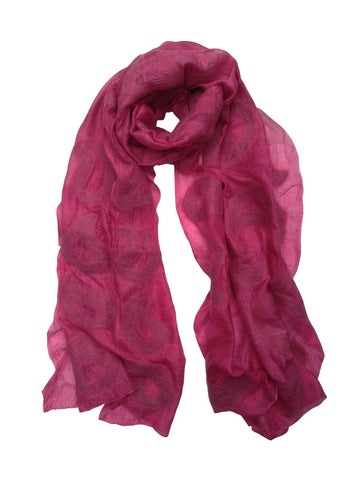 Dark Rasberry Seed Silk Scarf
