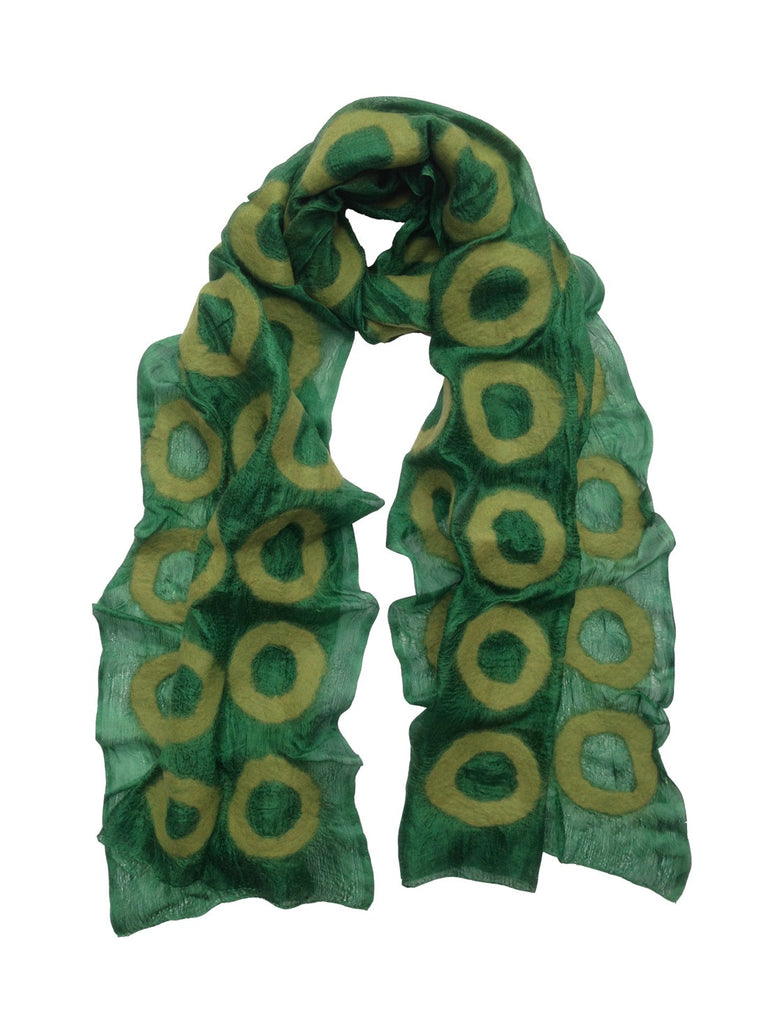 Green 'Jer' Silk Scarf