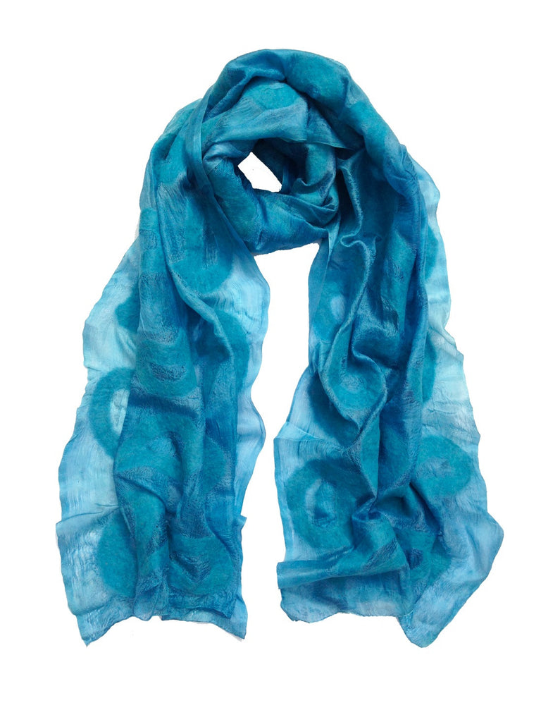 Ice Blue Seed Silk Scarf