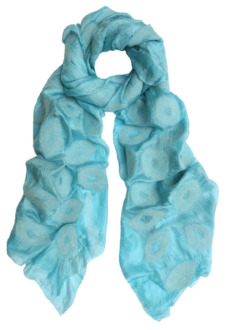Ice Blue Silk Scarf