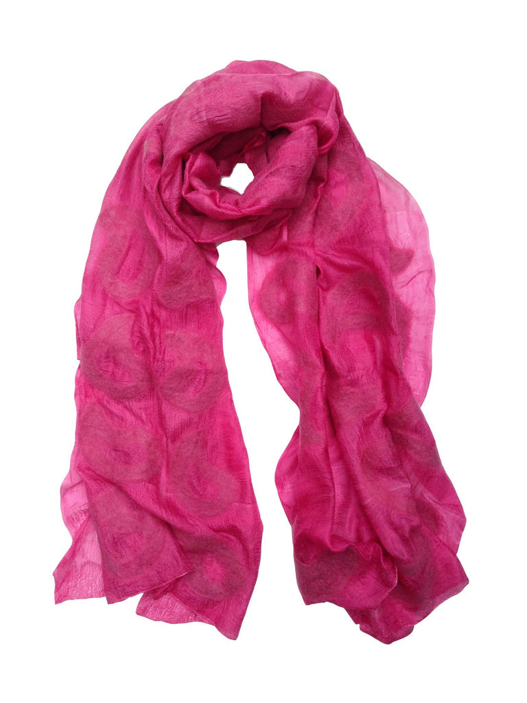 Pink Seed Silk Scarf
