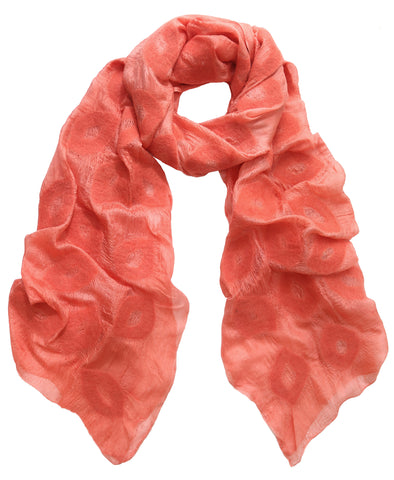 Soft Salmon Pink Silk Scarf