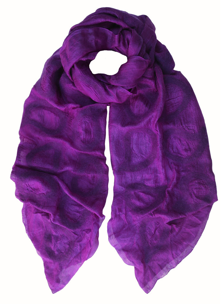 Purple 'Seed' Silk Scarf