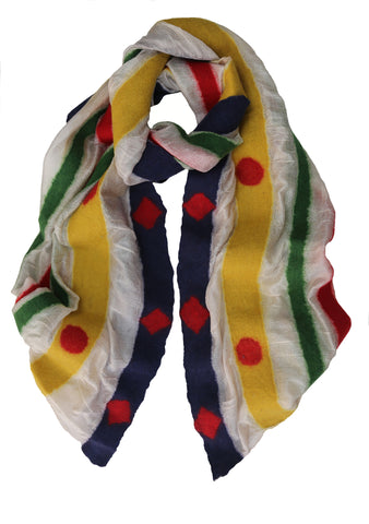 'Colour Block Connection' Silk Scarf