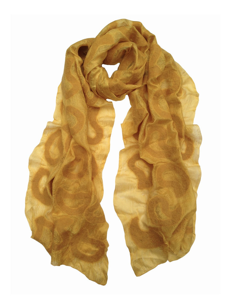 Yellow Seed Silk Scarf