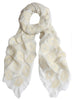 White Silk Scarf