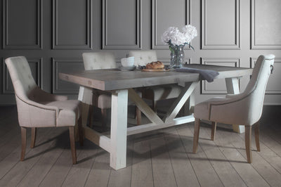How to stylishly dress your farmhouse trestle table