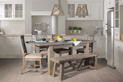 How do I choose chairs for a rustic kitchen?