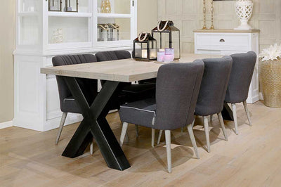 Love industrial style? Love our oak dining tables