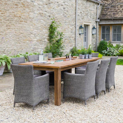 Get the large dining table outdoors for a perfect Father's Day