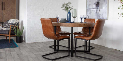 Guest friendly round dining tables