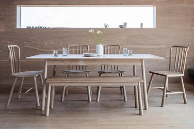 Dine in Scandi style with these oak tables