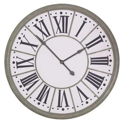 Large Zinc Effect Wall Clock 109cm