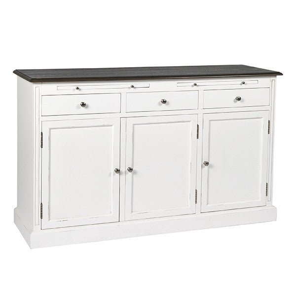 Victoria Distressed White Large Sideboard