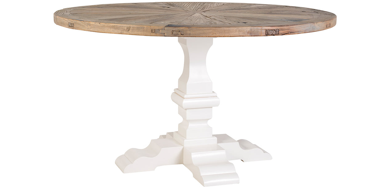 Alexandra Round Reclaimed Wood Dining Table