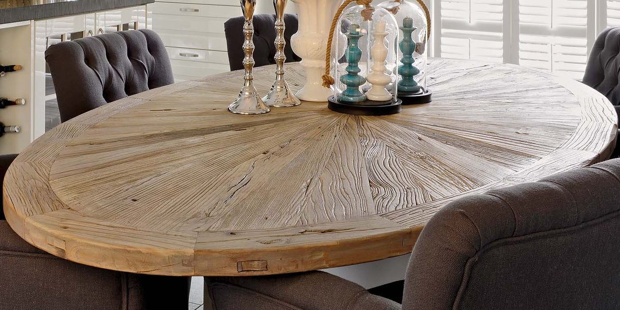 Reclaimed Wood Dining Table Rustic Dining Table Modish Living - Reclaimed wood oval dining table