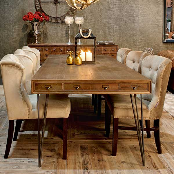 Barclay Reclaimed Wood Dining Table and Chairs